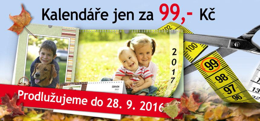 Kalendáře za 99 Kč