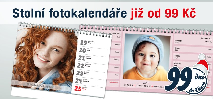 Stolní fotokalendáře jen za 99 Kč