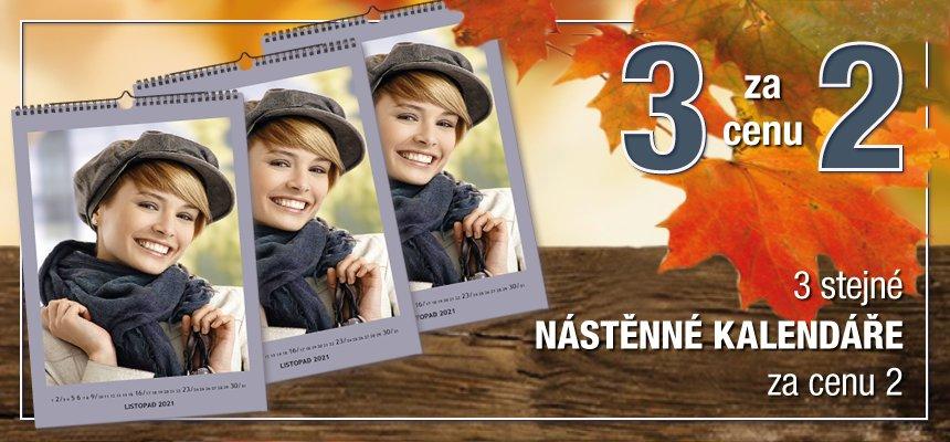 3 fotokalendáře za 2