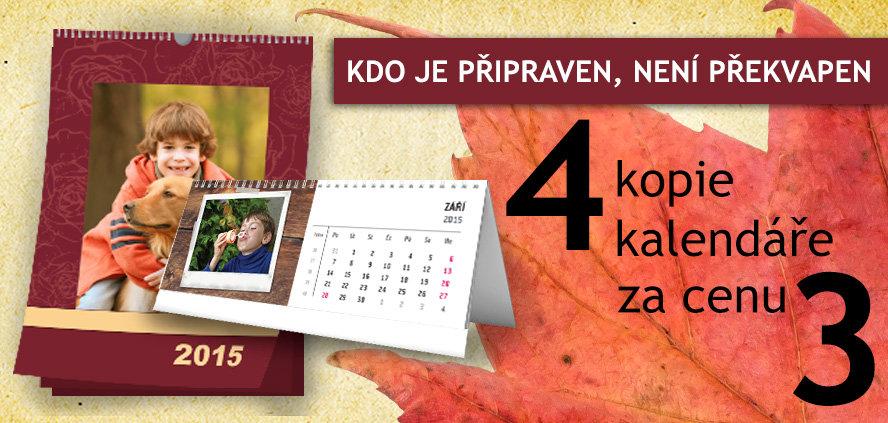 4 kalendáře za cenu 3